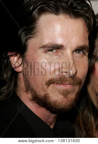 Christian Bale at the Los Angeles premiere of 'Harsh Times' held at the Crest Theater in Westwood, USA on November 5, 2006.