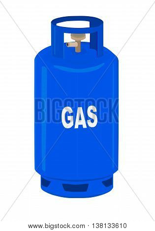 Propane gas cylinder - vector illustration. Gas.