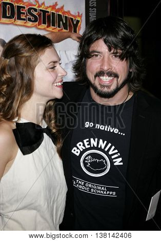 Dave Grohl of Foo Fighters and Jordyn Blum at the Los Angeles premiere of 'Tenacious D: The Pick of Destiny' held at the Grauman's Chinese Theatre in Hollywood, USA on November 9, 2006.