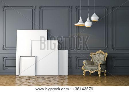3d render of beautiful clean interior