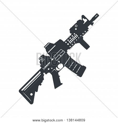 Modern illustration of various assault rifle. Vector EPS10