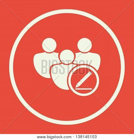 User Modify Icon In Vector Format. Premium Quality User Modify Symbol. Web Graphic User Modify Sign
