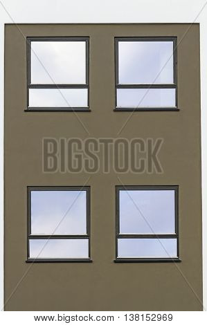 House perfectionist square, straight lines, windows, house new building
