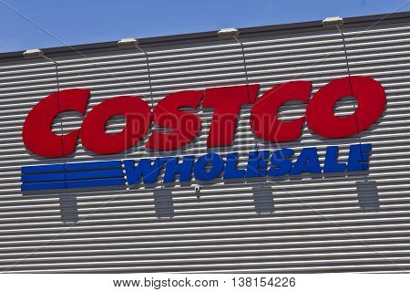 Ft. Wayne IN - Circa July 2016: Costco Wholesale Location. Costco Wholesale is a Multi-Billion Dollar Global Retailer IV