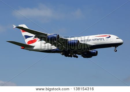 British Airways Airbus A380 Airplane London Heathrow Airport