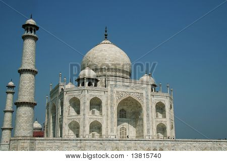 Taj Mahal palace in India poster