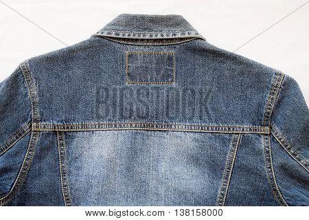background texture design cloth jeans denim jacket at back