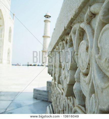 Marbles details in Taj Mahal palace