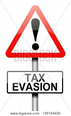 Tax Evasion Sign.
