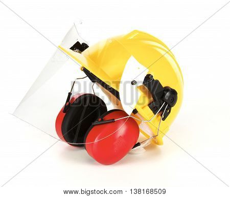 Safety helmet, Ears protection and Eyes protection