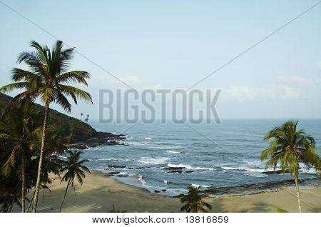 Tropical beach in Vagator,India