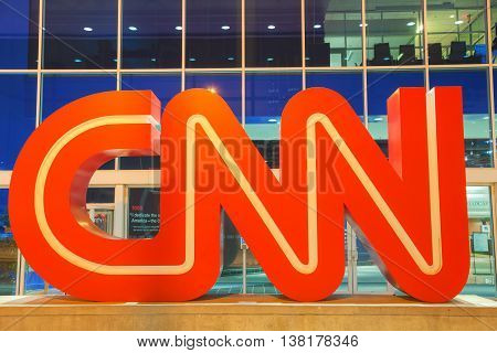ATLANTA - AUGUST 29: CNN Center in Atlanta on August 29 2015 in Atlanta. The CNN Center is the world headquarters of CNN.