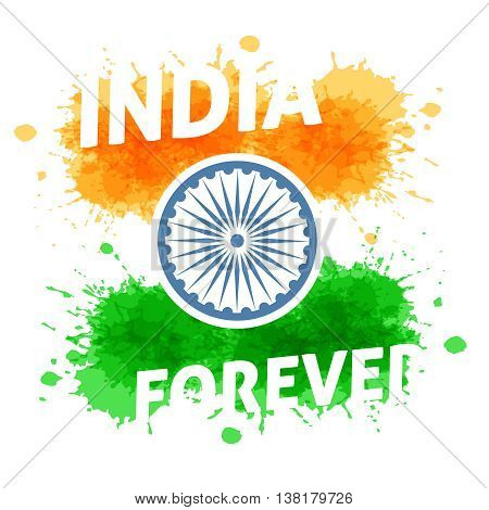 India independence day 15th of august. Holiday of freedom and democracy.