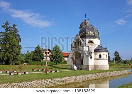 Eastern - rites catholic church of the annunciation Greek Catholic church in Pribic near Krasic Croatia