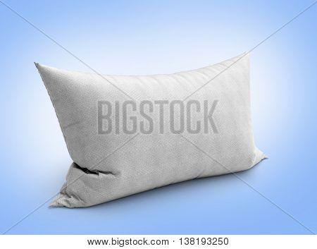 Clasic White Pillow 3D Illustration On Gradient Background