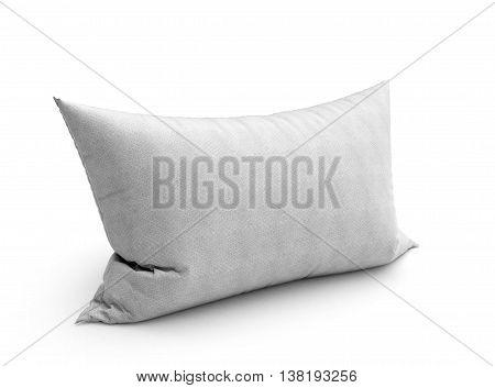 Clasic White Pillow 3D Illustration On White Background