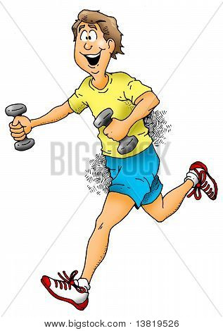 Jogging With Weights