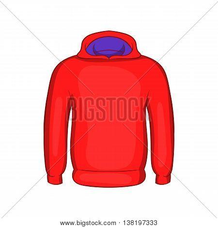 Mens winter sweatshirt icon in cartoon style isolated on white background. Clothing symbol