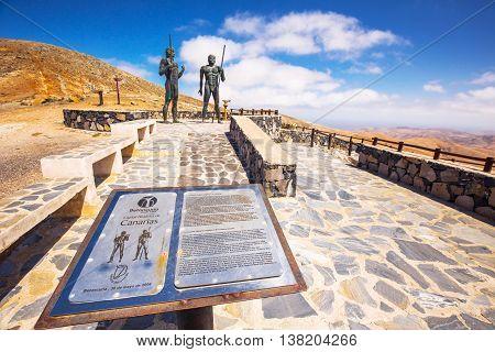 FUERTEVENTURA SPAIN - June 28 2016- Morro Velosa Pointview - Beautiful view to vulcanic landscape of Fuerteventura Island Canary Island Spain