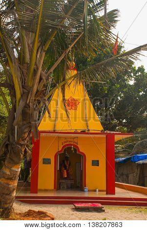 A Temple In Goa. Arambol. India.