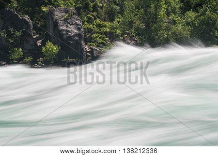 Niagara River At White Water Walk In Canada