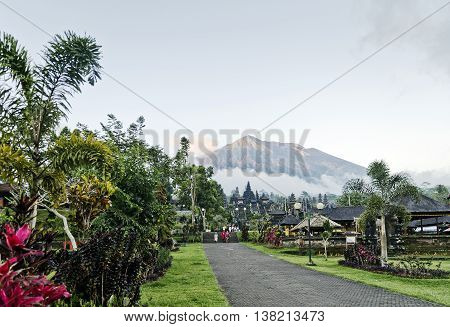 besakih temple complex famous landmark attraction in bali indonesia