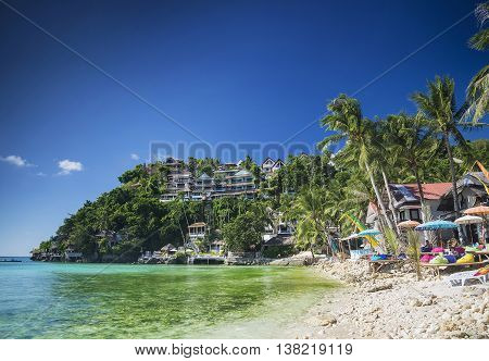 exotic diniwid beach resorts in tropical paradise boracay philippines