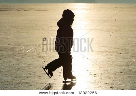 Girl-skating silhouette