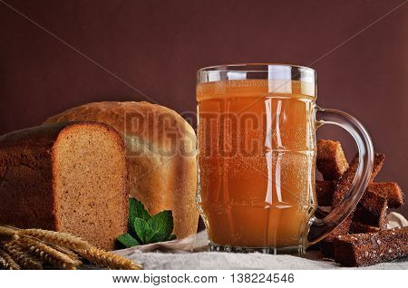 Kvass is a traditional Slavic and Baltic fermented beverage commonly made from black or regular rye bread