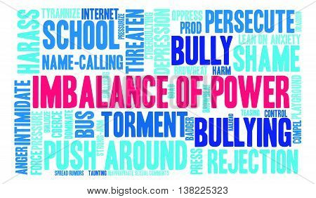 Imbalance Of Power word cloud on a white background.