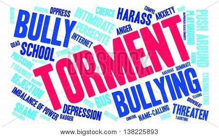Torment word cloud on a white background.