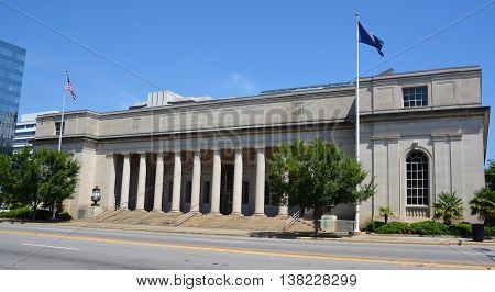 COLUMBIA SOUTH CAROLINA JUNE 24 2016: In 1971, the old Columbia Post Office, which had been purchased by the State in 1966, was reopened as the Supreme Court Building.