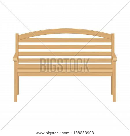 Wooden park bench vector illustrsation isolated on a white background