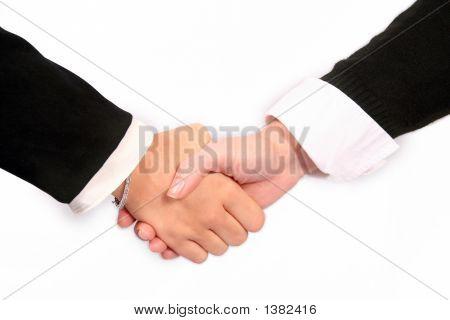 Handshake On A White Background