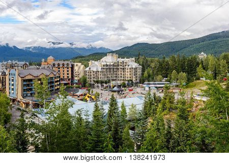 Whistler Village in Vancouver British Columbia Canada.
