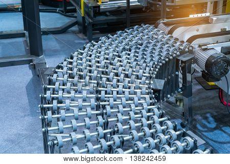 automatic conveyor belt, industry track.
