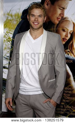 Kellan Lutz at the World premiere of 'Dear John' held at the Grauman's Chinese Theater in Hollywood, USA on February 1, 2010.