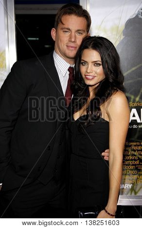 Channing Tatum and Jenna Dewan at the World premiere of 'Dear John' held at the Grauman's Chinese Theater in Hollywood, USA on February 1, 2010.