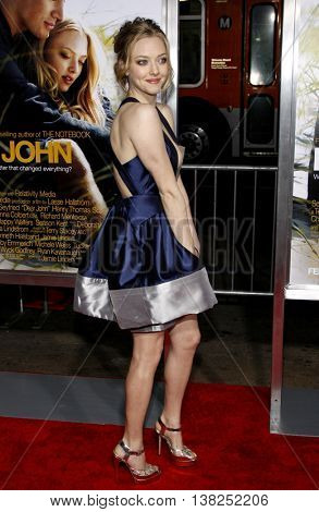 Amanda Seyfried at the World premiere of 'Dear John' held at the Grauman's Chinese Theater in Hollywood, USA on February 1, 2010.