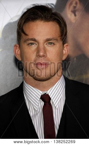 Channing Tatum at the World premiere of 'Dear John' held at the Grauman's Chinese Theater in Hollywood, USA on February 1, 2010.