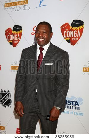 LOS ANGELES - JUL 12:  Troy Brown at the 2nd Annual Sports Humanitarian Of The Year Awards at the Congo Room on July 12, 2016 in Los Angeles, CA