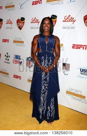 LOS ANGELES - JUL 12:  Carmelita Jeter at the 2nd Annual Sports Humanitarian Of The Year Awards at the Congo Room on July 12, 2016 in Los Angeles, CA