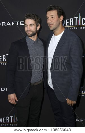 LOS ANGELES - JUL 11:  Chace Crawford, Tony Romo at the  Undrafted Los Angeles Premiere  at the ArcLight Hollywood on July 11, 2016 in Los Angeles, CA
