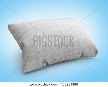 Clasic White Rectangular Pillow 3D Illustration On Gradient Background