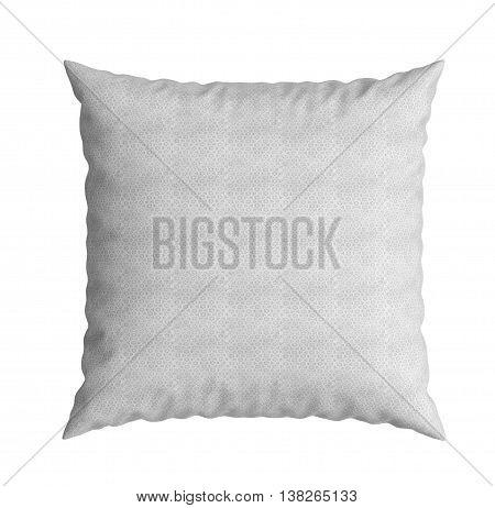 Clasic White Square Pillow 3D Illustration On White Background
