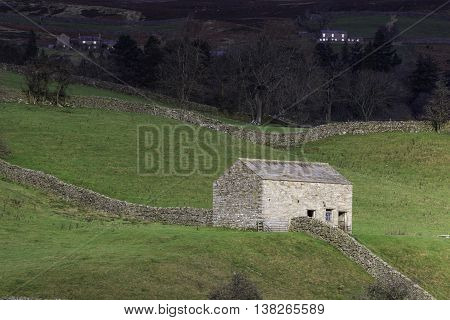 A rural view of the Yorkshire Dales National Park England