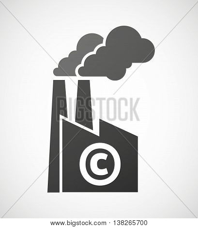 Isolated Industrial Factory Icon With    The  Copyright Sign