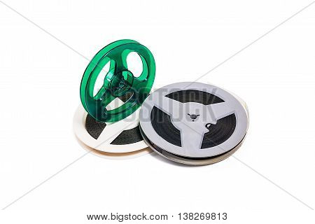 Old Cine Film Strip Isolated On White Background. With Clipping Path.