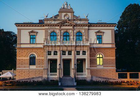 Pilsen Czech Republic - October 2 2015. So called Falcon Haouse in Pilsen (Plzen) city