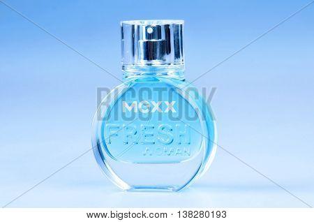 KIEV UKRAINE - December 09 2011. Illustrative editorial photo - eau de parfum (perfume) Mexx Fresh Woman